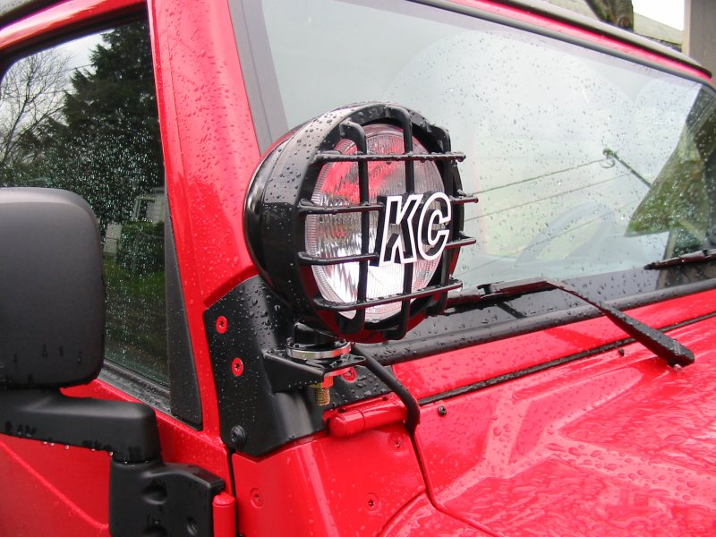 windshield mount daylighter installation jeepforum com rh jeepforum com Jeep JK Windshield Lights Jeep Wrangler Windshield Fog Lights
